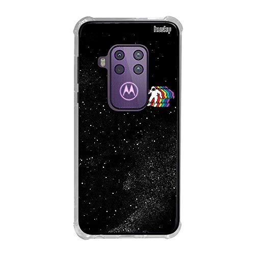 Capa Anti-Impacto Personalizada para Motorola One Zoom - Astronauta Prisma - Husky