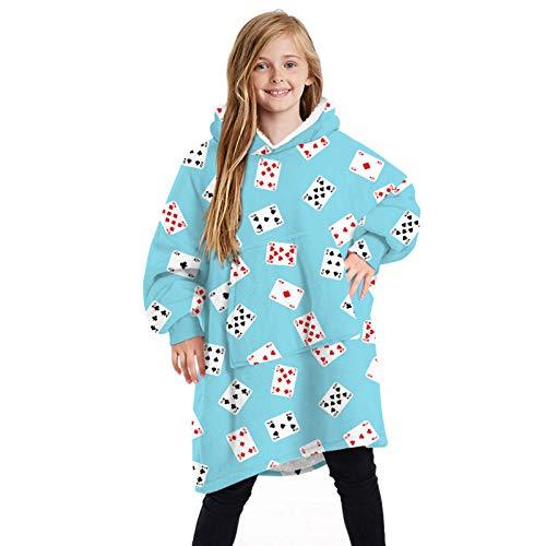 GAOHONGMEI Kinder-Kapuzenpullover, Übergröße, weich, flauschig, Fleece, tragbar, mit großer Tasche, Geschenk - 064 - Einheitsgröße