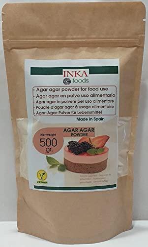 Agar agar en polvo 500 gr - Espesante y Gelificante vegetal natural