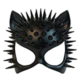 MASQSTUDIO Red Black Cat Woman Dress up Cosplay Party Masquerade Mask Spiky Halloween (Black)