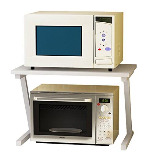 TOPJIN Étagère de rangement en acier laqué supportant une charge de 50 kg Pour la cuisine, Acier, blanc, 57x38x37cm
