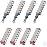 Ymwave 8Pcs Open System Damper Buffer Cierres Magnéticos Con tornillos y adhesivo para cajones de puertas para Puertas de Armario
