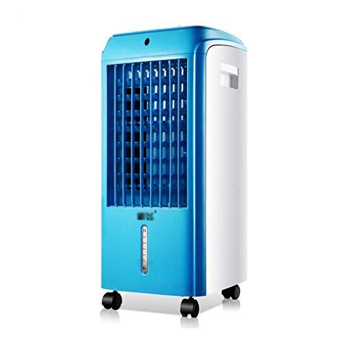 Ventilador pequeño for refrigeración y aire acondicionado, 3 operaciones de balanceo oscilante, refrigeración individual, ventilador de refrigeración for la oficina doméstica azul + blanco YFSLX