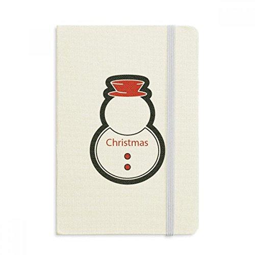 DIYthinker Weihnachten Schneemann Weihnachten Icon Notebook Stoff Hard Cover Klassisches Journal Tagebuch A5 A5 (144 X 210mm) Mehrfarbig