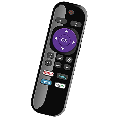 BOMAZ Universal Remote Replacement for Roku Smart TV Remote and Roku TCL Element HITACHI HAIER Philips LG RCA SANYO Smart TV UHD 4K LED LCD 28 32 40 43 48 49 50 55 65 75 85 inch 720p 1080p Class TV