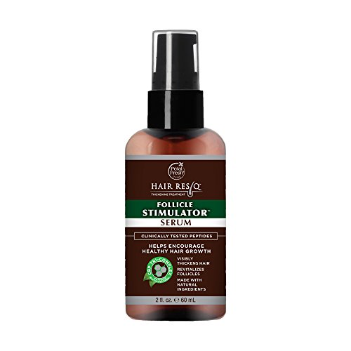 of stimulate for skin hairs Petal Fresh Hair ResQ Follicle Stimulator Natural Hair Thickening Treatment Serum For Noticeably Thinning Hair (Clinically Tested Peptides)