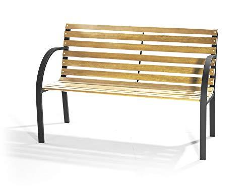 Banc en bois et métal, 120 x 62 cm