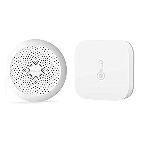 für Aqara Smart Home Kit,für Aqara Gateway + für Aqara Temperature Humidity Sensor, Eamplest Smart Home Zigbee Version Intelligenter Temperaturfeuchtesensor