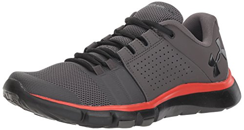 Under Armour Herren Strive 7 Nm Fitnessschuhe, Schwarz (Charcoal/Radio Red/Black 100), 47.5 EU