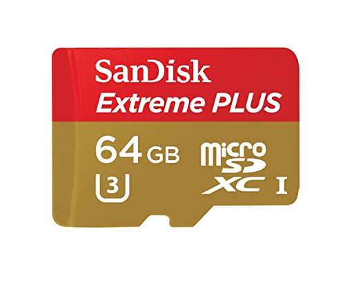 SanDisk Extreme Plus microSDXC 64GB UHS I Class 10 U3 Speicherkarte bis zu 80MBs lesen
