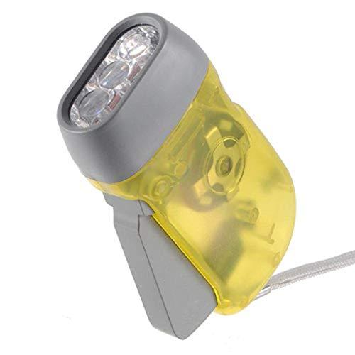 Mengonee Dínamo de 3 LED Linterna antorcha de Mano Luz de