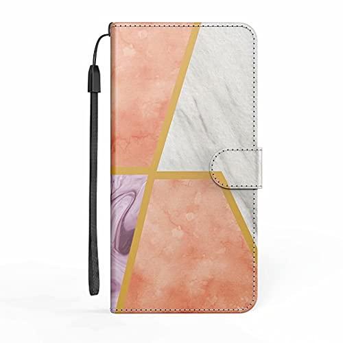 Funda para iPhone 11, iPhone 11, funda de piel sintética de alta calidad, con tapa, protector magnético, ranura para tarjeta de crédito, soporte de silicona suave para iPhone 11, color rosa y blanco