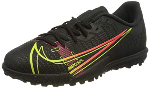 Nike JR Vapor 14 Academy TF, Zapatillas de ftbol, Black Cyber Off Noir Rage Green Siren Red, 33 EU
