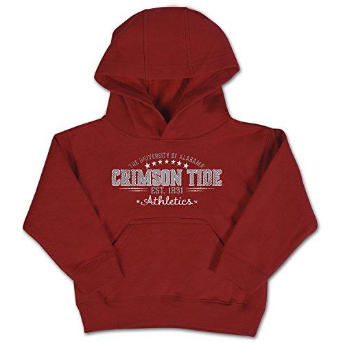 NCAA Alabama Crimson Tide Toddler Pullover Hood, 5/6 Toddler, Cardinal