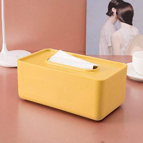 Caja de tejido Caja de tejido Caja de almacenamiento Caja de tejido Caja de tejido creativo Cubierta de plástico Caja de extracción de papel Sala de estar Minimalista Casa Papel Toalla Caja de almacen