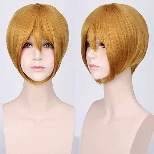 WANGSHAOFENG Pelucas de Peluca de Cara Corta Corta con espesas, Peluca de Anime Superior Peluca Color : (Prince Kim)