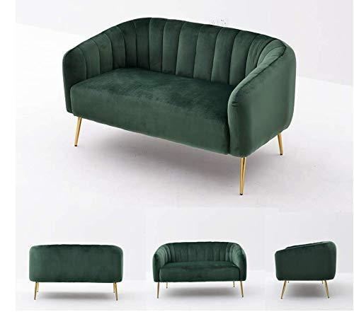 FTFTO Accesorios para el hogar Sofá nórdico Individual sillón pequeño apartamento Familiar Sala de Estar sofá Tela Ligera Tienda de Ropa salón de Belleza sofá Verde Doble