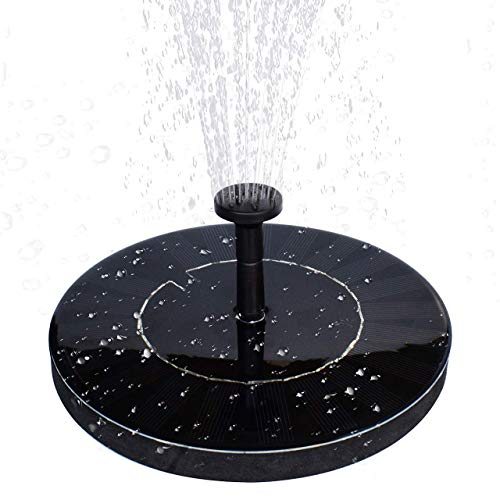 MADETEC Solar Water Fountain Pump with Battery Backup,1.5W Upgraded Submersible Solar Pond Fountain Panel Kit for Bird Bath,Small Pond,Garden and Lawn