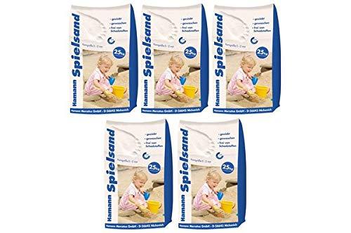 Hamann Spielsand Classic 125 kg Sack - Qualitäts Quarzsand - gesiebt - frei von Schadstoffen - gewaschen