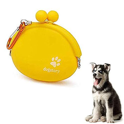 Sunfauo Bolsa Premios Perro Bolsa Adiestramiento Perros Perro Accesorios Bolsas de Comida para Perros Bolsas portátiles para Perros Perro Tratar Bolsa Yellow