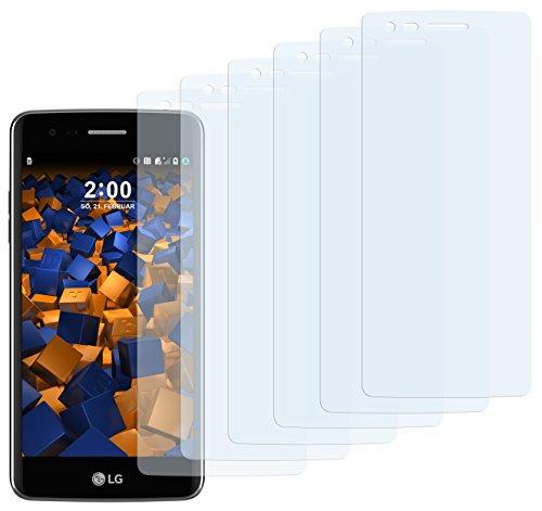mumbi Schutzfolie kompatibel mit LG K8 2017 Folie klar, Bildschirmschutzfolie (6X)