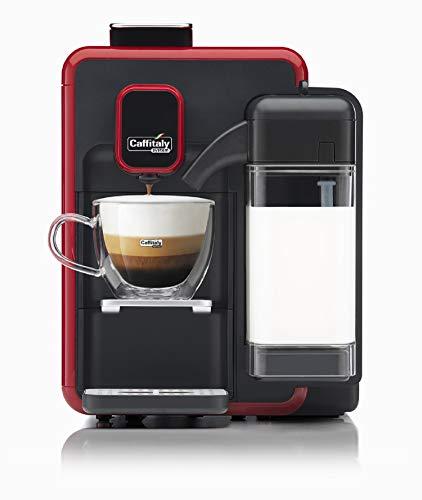 Caffitaly Cafetera System Blanca S22 Color Rojo y Negro