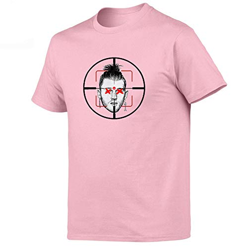 WEII T-shirt Hiphop Singer Eminem print korte mouwen T-stuk unisex losse tricot meerdere kleuren optioneel Large roze