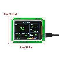2.8インチTFT多機能デジタルカーPM2.5空気質検出器モニターAQI家庭用空気モニター8.5x 6.5cm DC 5V