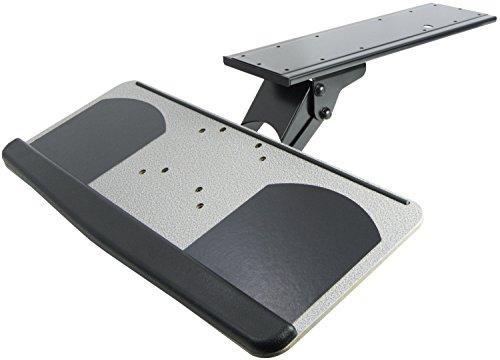 VIVO Adjustable Computer Keyboard and Mouse Platform Tray, Ergonomic Under Table Desk Mount Drawer, MOUNT-KB01