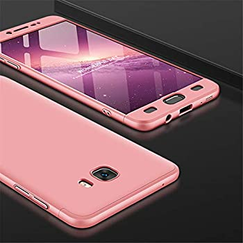HMTECHUS Galaxy C9 Pro case Shockproof 2 in 1 Hard PC Plastic Material Anti-Scratch Bumper Full Body Coverage Protection Ultra-Thin Cover for Samsung Galaxy C9 Pro 2 in 1 PC Rose Gold AD