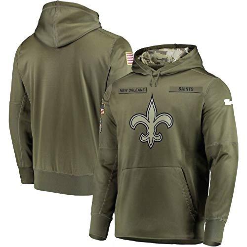Xyy NFL Jersey-New Orleans Saints-Fan Hoodie, grün hohe Qualität Armee gestickten Sweatshirt, American-Football-Trikot NFL Hoodie (Color : Man, Size : M)