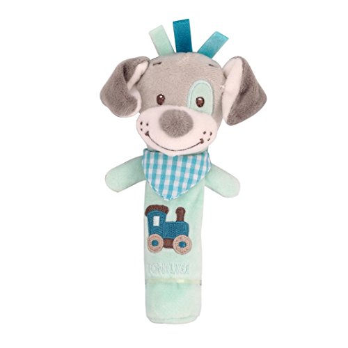 Coloré(TM) peluches bebe Plush Toy Plush Dolls Animaux Hand Bells Musical Bébé Peluches Developmental Rattle Bed Kids (A)