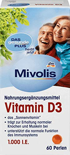 DAS gesunde PLUS Vitamin D3 Perlen, 60 St Nahrungsergänzungsmittel