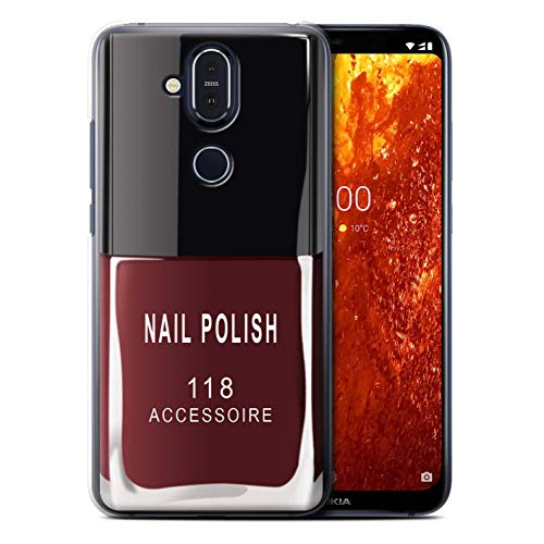 eSwish telefoonhoesje/over/huid/NOKLUM-CC/nagellak/make-up collectie Nokia 8.1 2018/X7 Rood