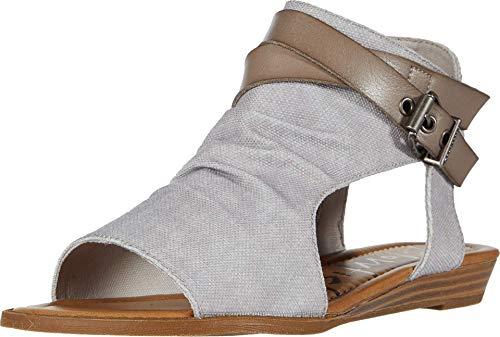 Blowfish Malibu womens Fashion Casual Sandal, Shelll Recycled Plastic/Smoke, 8 US