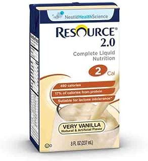 Resource 2.0 Vanilla Creme Brikpak 27 X 8oz Case
