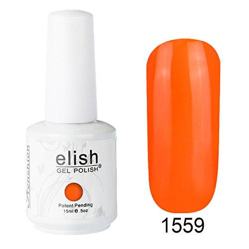 Frenshion 15ML Esmaltes de Uñas Semi Permanente Gel Polish Soak Off UV LED Nail Art Manicura Duradero 1559