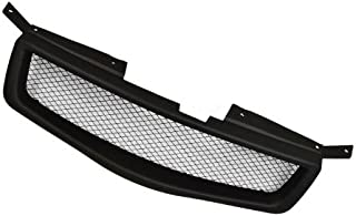 VioGi Fit 04-06 Nissan Maxima 1pc Black Coated Finish ABS Plastic JDM Sport Mesh Style Badgeless Front Grille