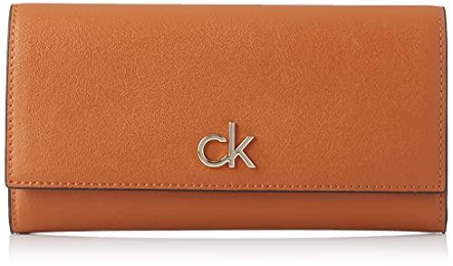 Calvin Klein RE-Lock, Accesorio Billetera de Viaje para Mujer, CK Negro, One Size