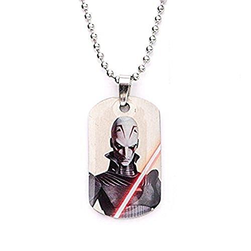 Disney Star Wars Rebels Inquisitor niños de acero inoxidable perro etiqueta colgante con cadena