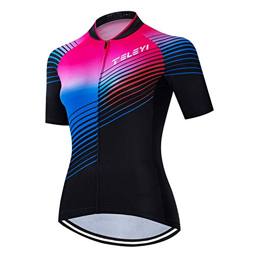 weimostar Fahrradtrikot für Damen, kurzärmelig, Mountainbike, Damen, Fahrrad-Shirt, atmungsaktiv, schnell trocknend, Damen, CC6501, Chest38-40