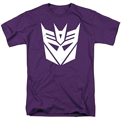 Transformers Decepticon Unisex Adult T-Shirt for Men and Women, Purple, Medium