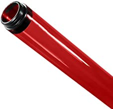 48 in. - T8 - Red - Tube Guard with End Caps - Colored Plastic Lamp Sleeve - American PLAS-100221