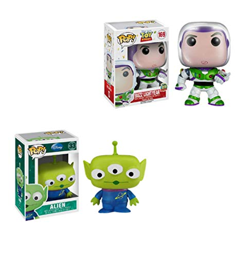 2 Unids / Set Pop Toy Story Woody Lotso Buzz Lightyear Alien Figura Juguete De Vinilo para Niños Juguetes De Regalo De Cumpleaños