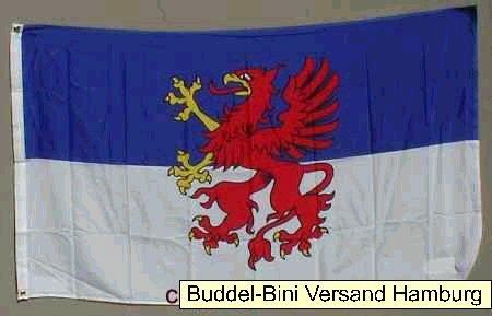 Pommern Flagge Großformat 250 x 150 cm wetterfest Fahne