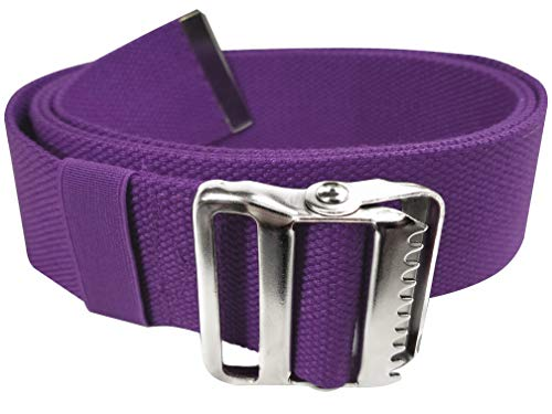 LiftAid Walking Gait Belt and Patient Transfer with Metal Buckle and Belt Loop Holder for Nurse,...