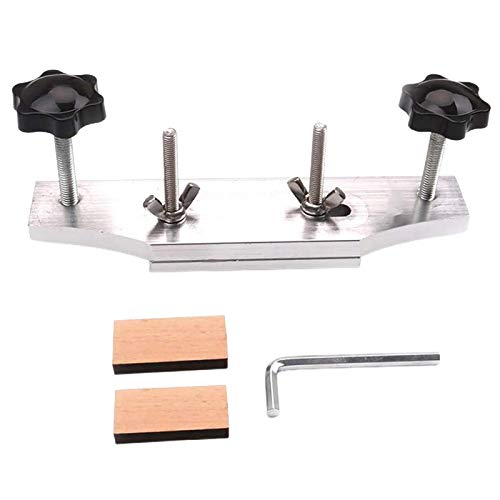 Guitars Accessory Luthier Tools,Guitar Bridge Clamp Luthier Tools with L Wrench,Guitar Bonding Clip for Acoustic Guitar,Stainless Steel
