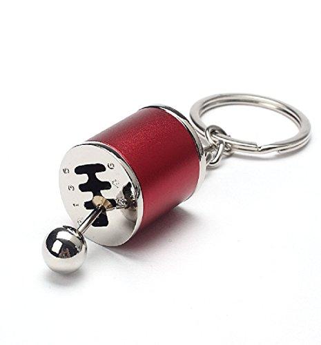 Ularma Coche Creative Auto Tuning piezas llavero turbina Nos llavero (rojo)