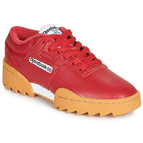 REEBOK CLASSIC Workout Ripple OG Zapatillas Moda Hombres Rojo/Blanco - 44 1/2 - Zapatillas Bajas