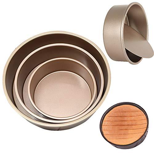 SIPLIV 3 pcs (6,8,10 pulgadas) kit de molde para pasteles con fondo...